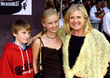 Premiere: Nancy Cartwright and kids at the Hollywood premiere of Disney and Pixar's The Incredibles - 10/24/2004