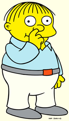 Ralph Wiggum (voiced by Nancy Cartwright) Fox's The Simpsons