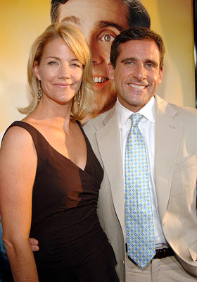 Premiere: Nancy Walls and Steve Carell at the Hollywood premiere of Universal Pictures' The 40-Year-Old Virgin - 8/11/2005