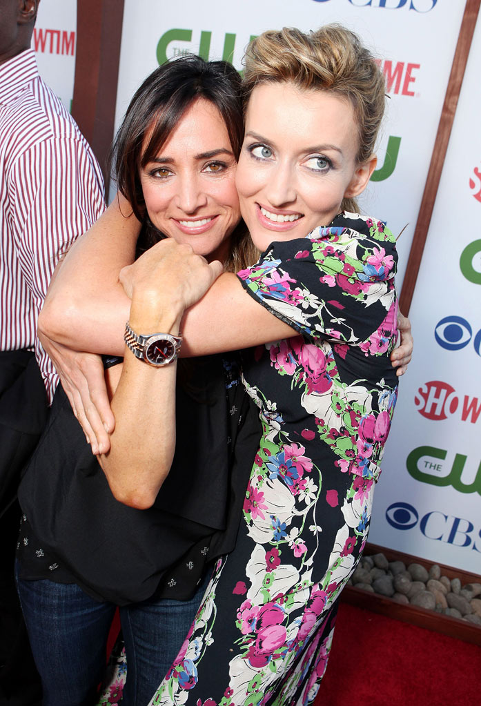 "Pamela Adlon and Natasha McElhone of ""Californication"" attend the CBS, The CW, and Showtime 2011 Summer TCA Party at The Pagoda on August 3, 2011 in Beverly Hills, California."