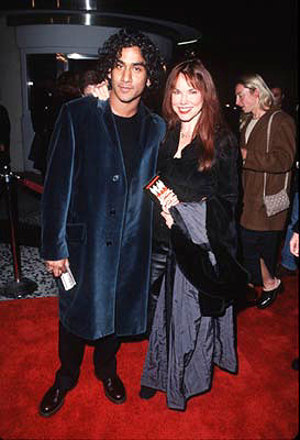 Premiere: Naveen Andrews and Barbara Hershey at the premiere of Gramercy's Lock, Stock and Two Smoking Barrels - 2001