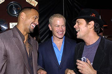 "Premiere: Dwayne ""The Rock"" Johnson, Neal McDonough and Johnny Knoxville at the LA premiere of MGM's Walking Tall - 3/29/2004"