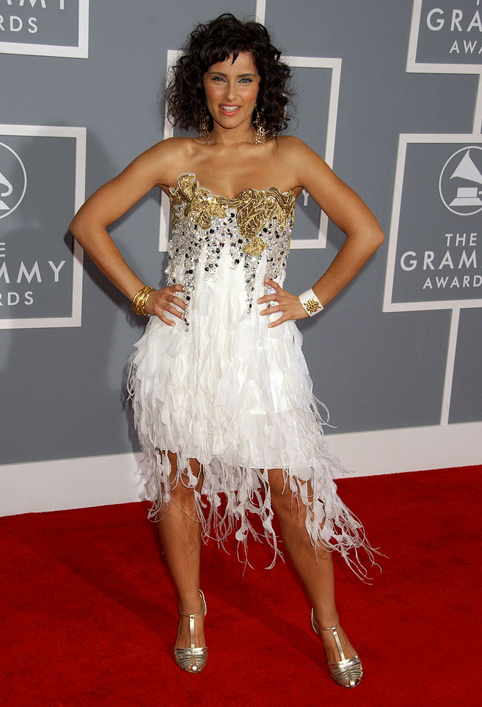 Nelly Furtado at The 49th Annual Grammy Awards.