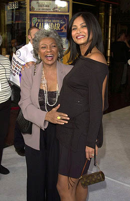 Premiere: Nichelle Nichols and Joanna Bacalso at the Hollywood premiere of Snow Dogs - 1/13/2002