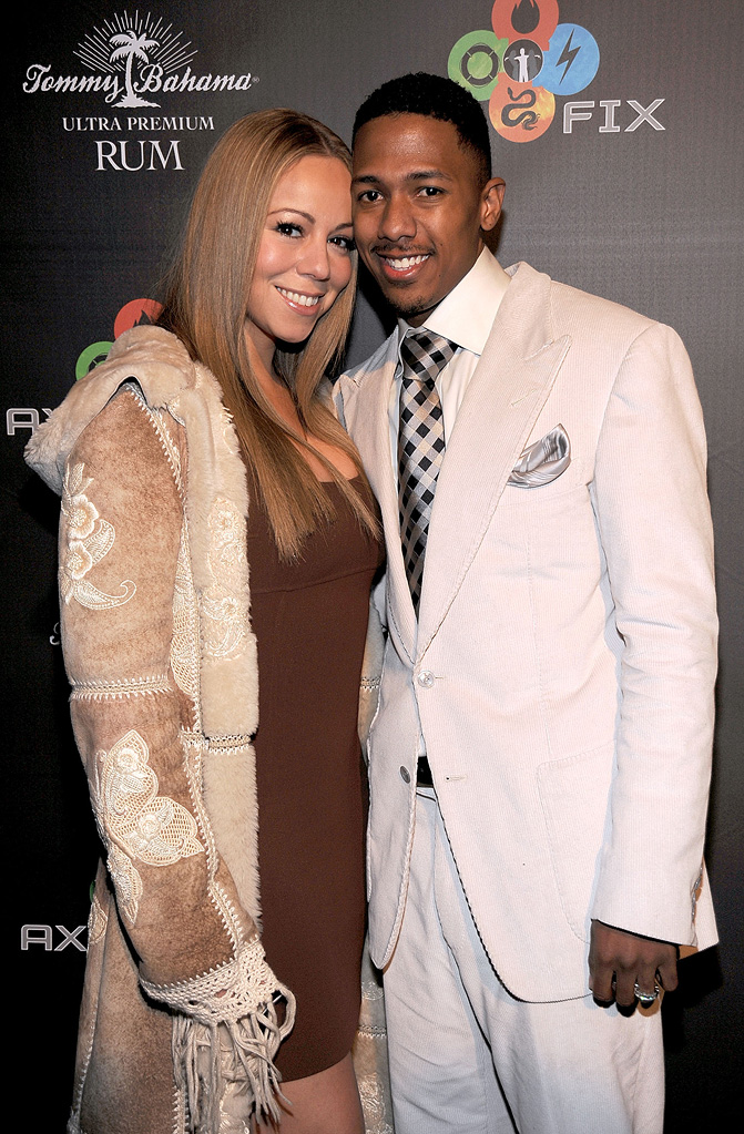 Mariah Carey and Nick Cannon attend the AXE Fix Nightclub on January 17th, 2009 in Park City, Utah.