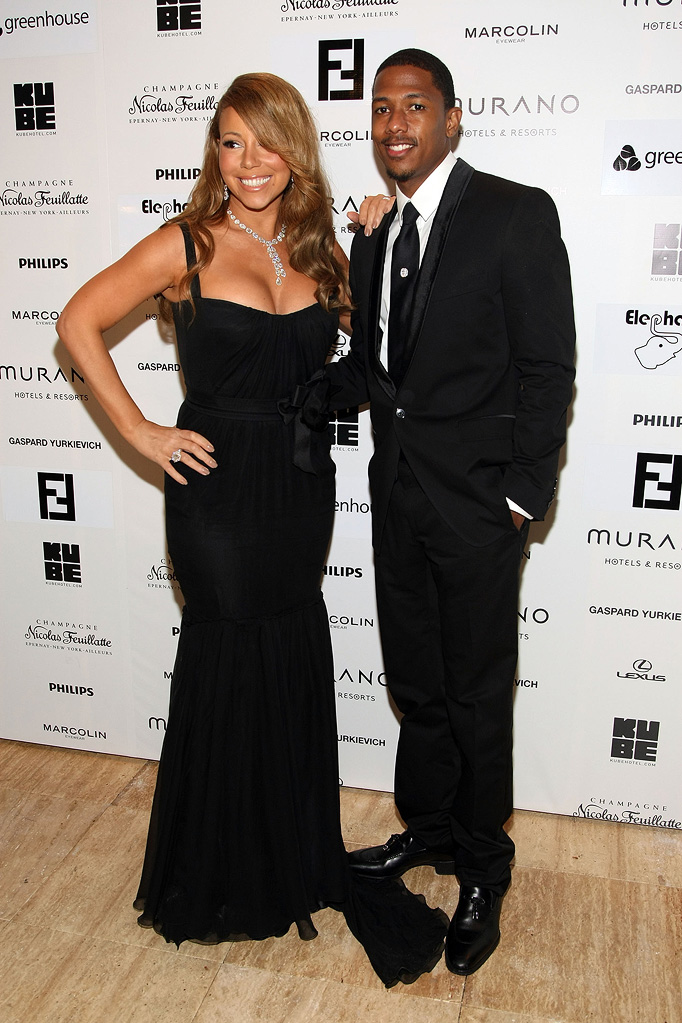 Mariah Carey and Nick Cannon arrive for the Precious After Party at Murano House on May 15, 2009 in Cannes, France.