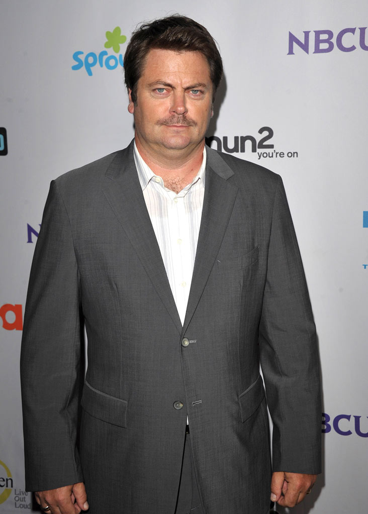 "Nick Offerman of ""Parks and Recreation"" attends the NBC Universal Summer TCA 2011 All-Star Party at the SLS Hotel on August 1, 2011 in Los Angeles, California."