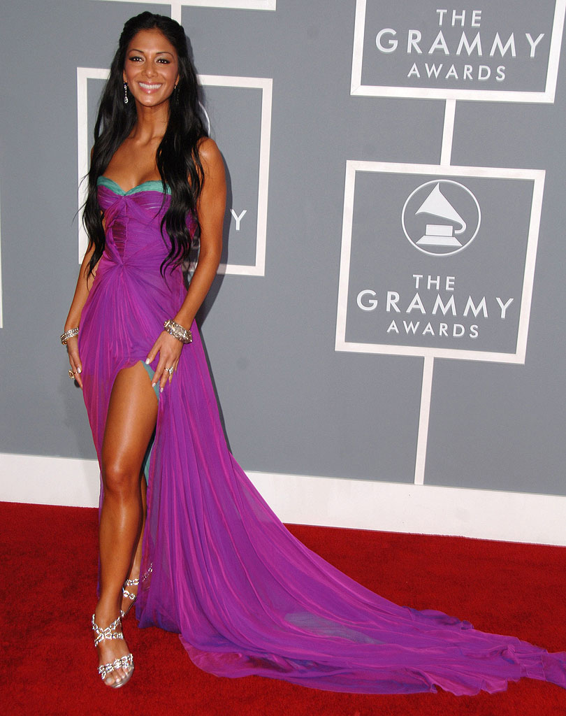 Nicole Scherzinger of the Pussycat Dolls at The 49th Annual Grammy Awards.