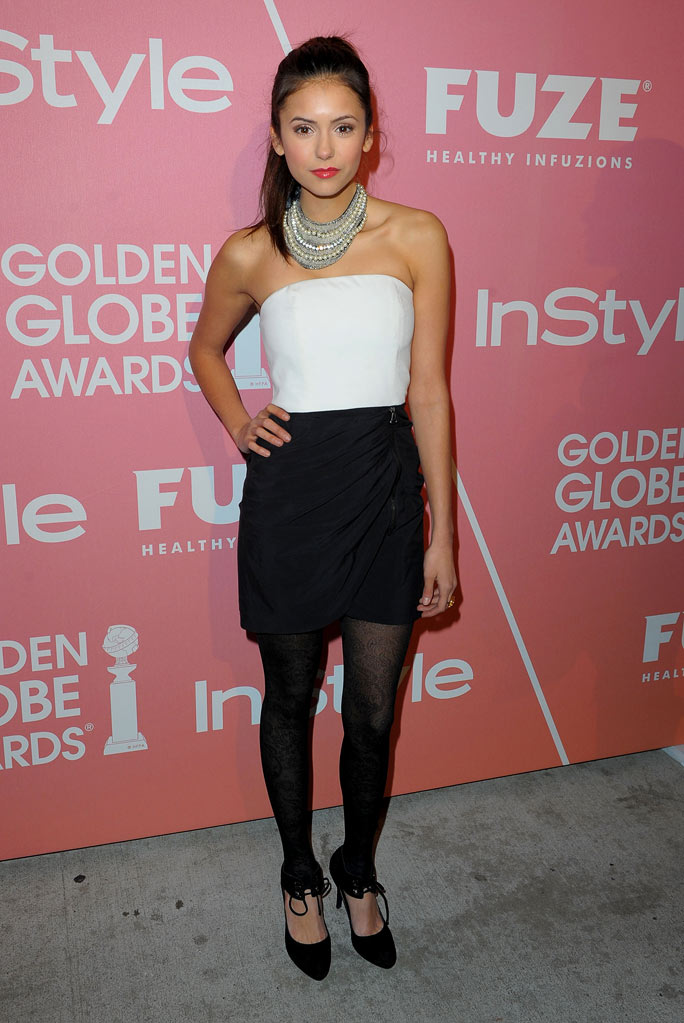 Nina Dobrev arrives at the 2nd annual Golden Globes party saluting young Hollywood held at Nobu Los Angeles on December 8, 2009 in West Hollywood, California.