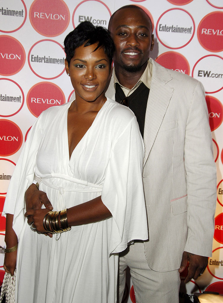 Omar Epps (right) and wife Keisha Epps at the Entertainment Weekly Magazine 4th Annual Pre-Emmy Party.