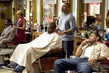 Toni Trucks, Omar Gooding and Dan White (II) Showtime's 'Barbershop: The Series'