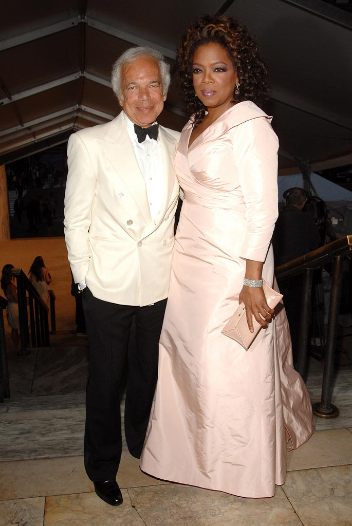 Ralph Lauren and Oprah Winfrey at the 2007 CFDA Fashion Awards.