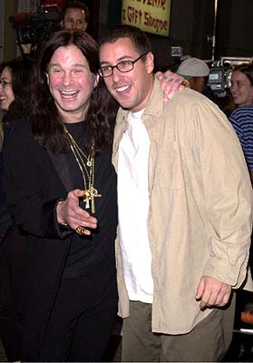 Premiere: The Ozzman Beeth in Good Spirits - Ozzy Osbourne and Adam Sandler at the Mann's Chinese Theatre premiere of New Line's Little Nicky - 11/2/2000