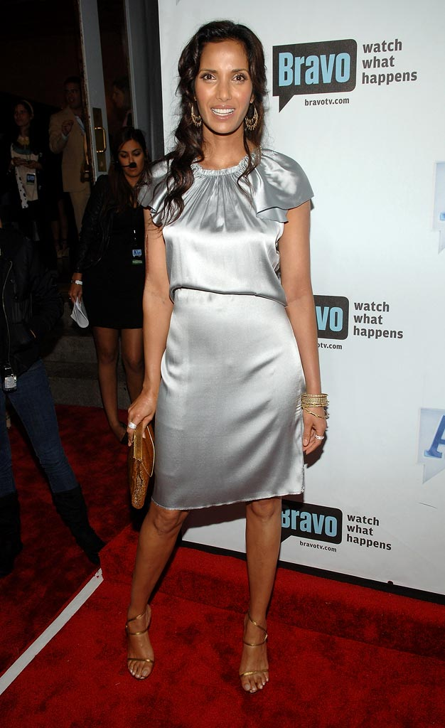 "Padma Lakshmi attends Bravo's 1st ""A-List Awards"" at the Hammerstein Ballroom on June 4, 2008 in New York City."