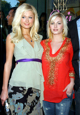 Premiere: Paris Hilton and Elisha Cuthbert at Kitson in Beverly Hills for Warner Bros. Pictures' House of Wax - 4/21/2005