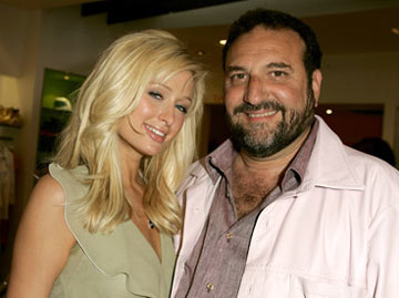 Premiere: Paris Hilton and producer Joel Silver at Kitson in Beverly Hills for Warner Bros. Pictures' House of Wax - 4/21/2005