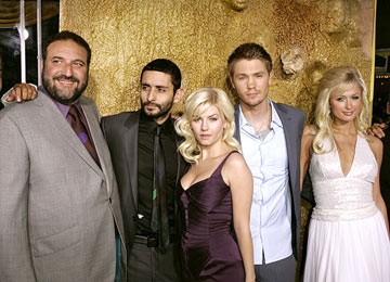 Premiere: Producer Joel Silver, director Jaume Collet-Serra, Elisha Cuthbert, Chad Michael Murray and Paris Hilton at the Westwood premiere of Warner Bros. Pictures' House of Wax - 4/26/2005