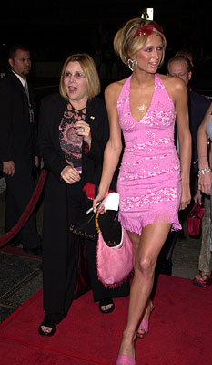 Premiere: Carrie Fisher and Paris Hilton at the Hollywood premiere of MGM's Heartbreakers - 3/19/2001