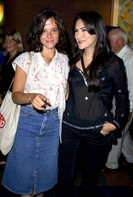 Premiere: Parker Posey and Nadia Dajani at the New York premiere of IFC Films' Happy Accidents - 8/22/2001