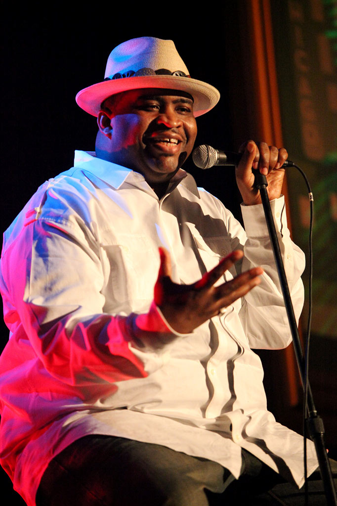 "Patrice O'Neal performs on stage at the ""Patrice O'Neal"" Show during TBS presents A Very Funny Festival: Just For Laughs on June 20, 2009 in Chicago, Illinois."