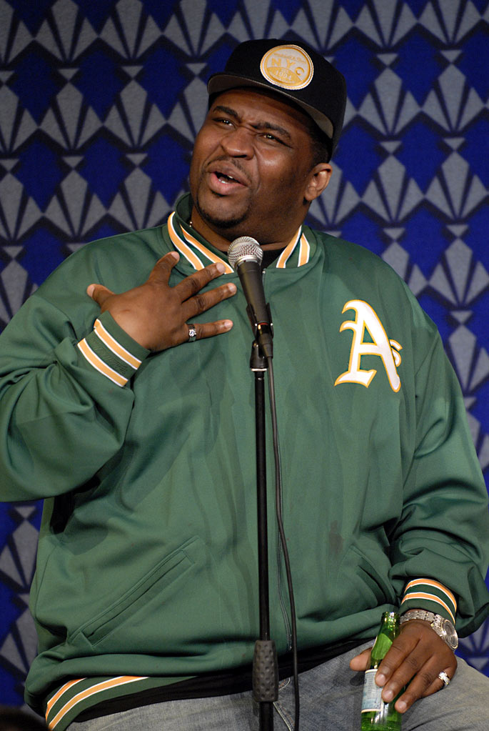 "Patrice O'Neal performs at the Comedy Benefit For ""L'il Moe"" at the Gotham Comedy Club on May 11, 2006 in New York City, New York."