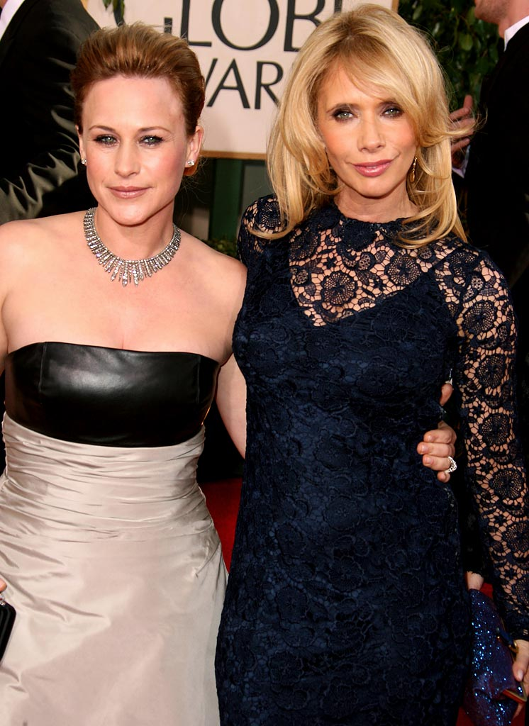 Patricia Arquette and Rosanna Arquette at the 64th annual Golden Globe Awards.