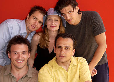 (Clockwise) Sam Rockwell, Patricia Clarkson, Andrew Davoli, Joe Russo and Anthony Russo Welcome to Collinwood Photos Cannes Film Festival - 5/25/2002 Patricia Clarkson