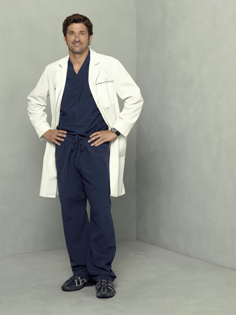 Patrick Dempsey stars as Derek Shepherd on Grey's Anatomy.