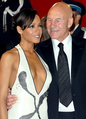 Premiere: Dania Ramirez and Patrick Stewart at the 2006 Cannes Film Festival premiere of 20th Century Fox's X-Men: The Last Stand - 5/22/2006