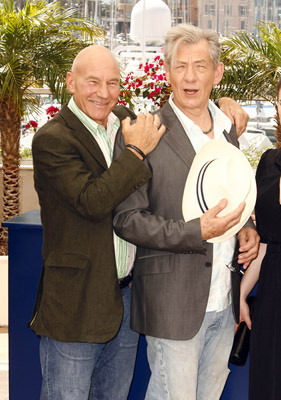 "Patrick Stewart and Ian McKellen ""X-Men: The Last Stand"" Photocall - 5/22/2006 2006 Cannes Film Festival"