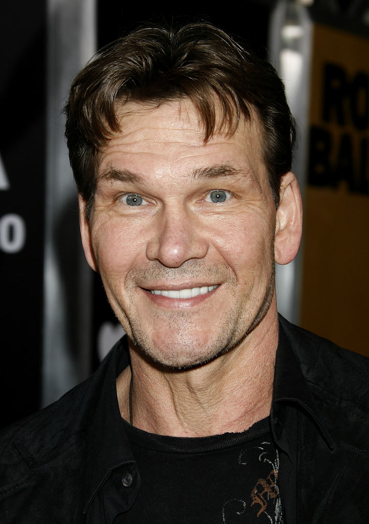 "Patrick Swayze at the ""Rocky Balboa"" World Premiere in Hollywood, California."