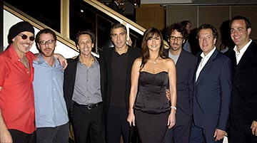 Premiere: Billy Bob Thornton, Ethan Coen, Brian Grazer, George Clooney, Catherine Zeta Jones, Geoffrey Rush and Paul Adelstein at the LA premiere of Universal's Intolerable Cruelty - 10/1/2003