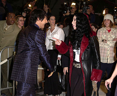 Premiere: Paul Reubens and Cher at the Hollywood premiere of New Line's Blow - 3/29/2001