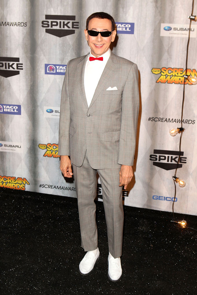 "Paul Reubens arrives at Spike TV's ""Scream 2011"" at Universal Studios on October 15, 2011 in Universal City, California."