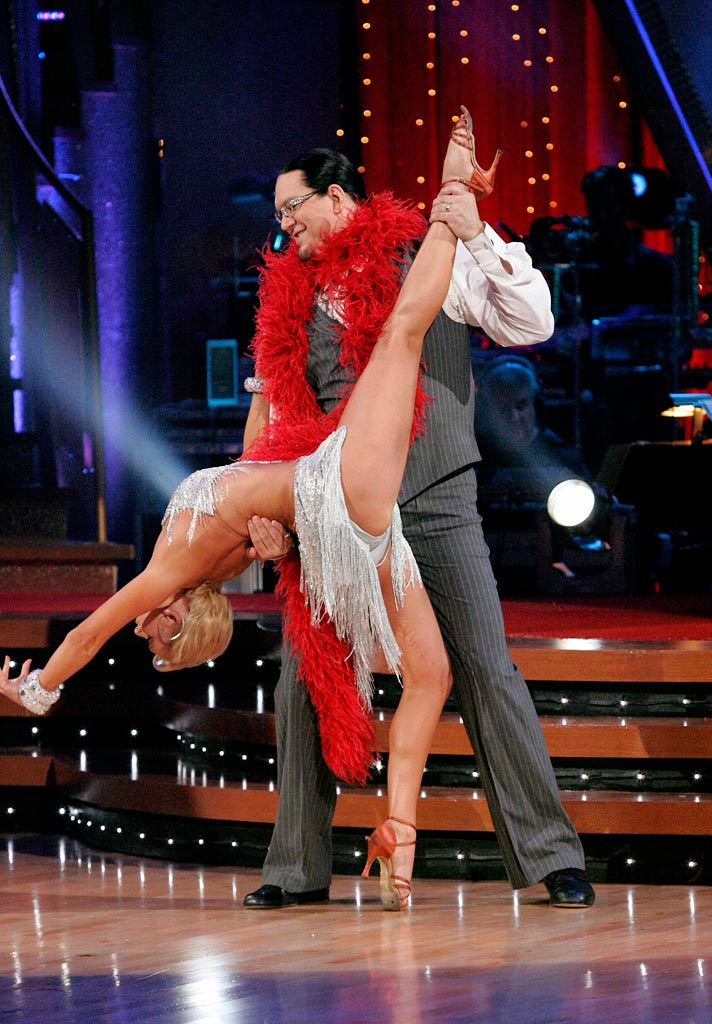 Kym Johnson and Penn Jillette perform a dance on the sixth season of Dancing with the Stars.