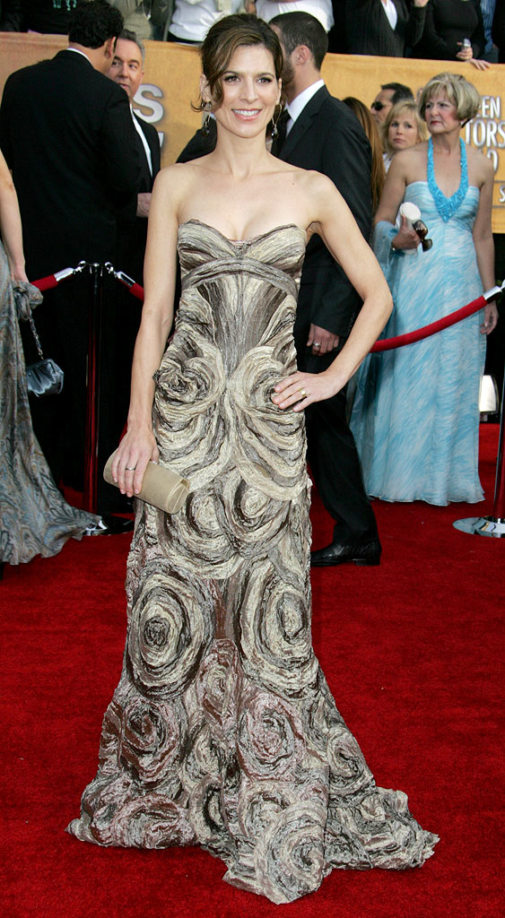 Perrey Reeves at the 13th Annual Screen Actors Guild Awards.