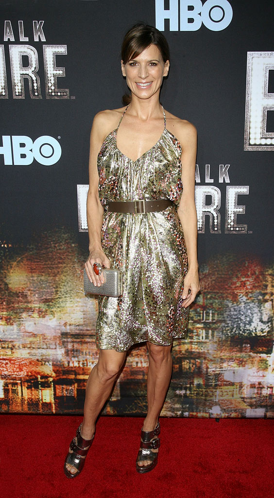 "Perrey Reeves attends the premiere of ""Boardwalk Empire"" at the Ziegfeld Theatre on September 15, 2010, in New York City."