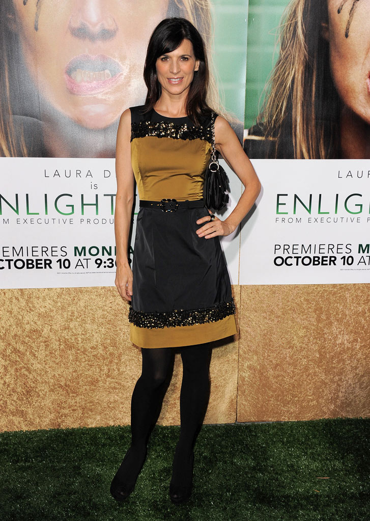 "Perrey Reeves arrives at the premiere of HBO's ""Enlightened&quot at Paramount Theater on October 6, 2011 in Hollywood, California."