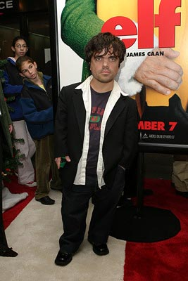 Premiere: Peter Dinklage at the New York premiere of New Line's Elf - 11/2/2003
