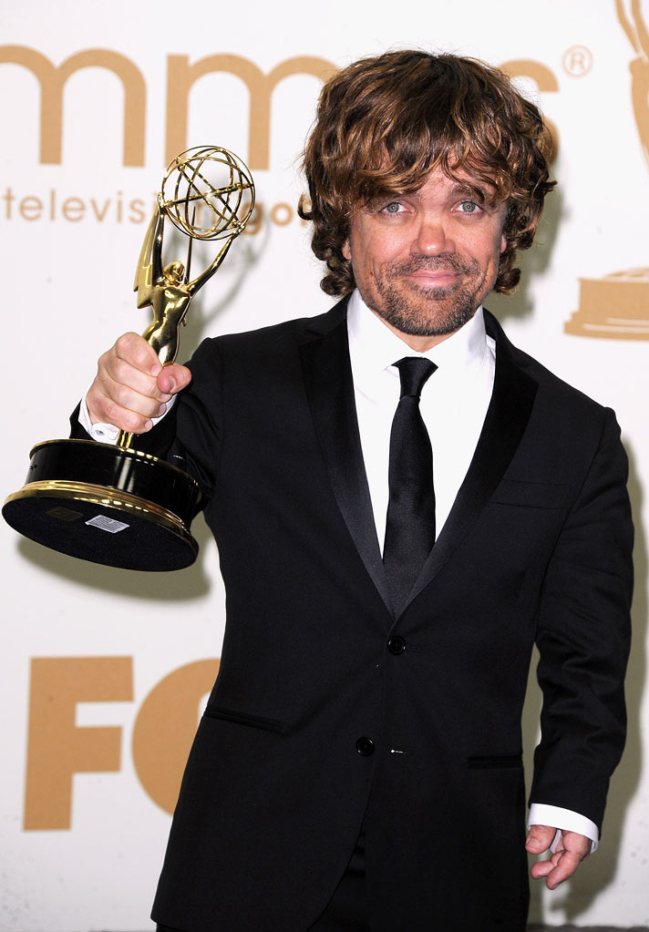 Peter Dinklage poses in the press room during the 63rd Primetime Emmy Awards at Nokia Theatre L.A. Live on September 18, 2011 in Los Angeles.