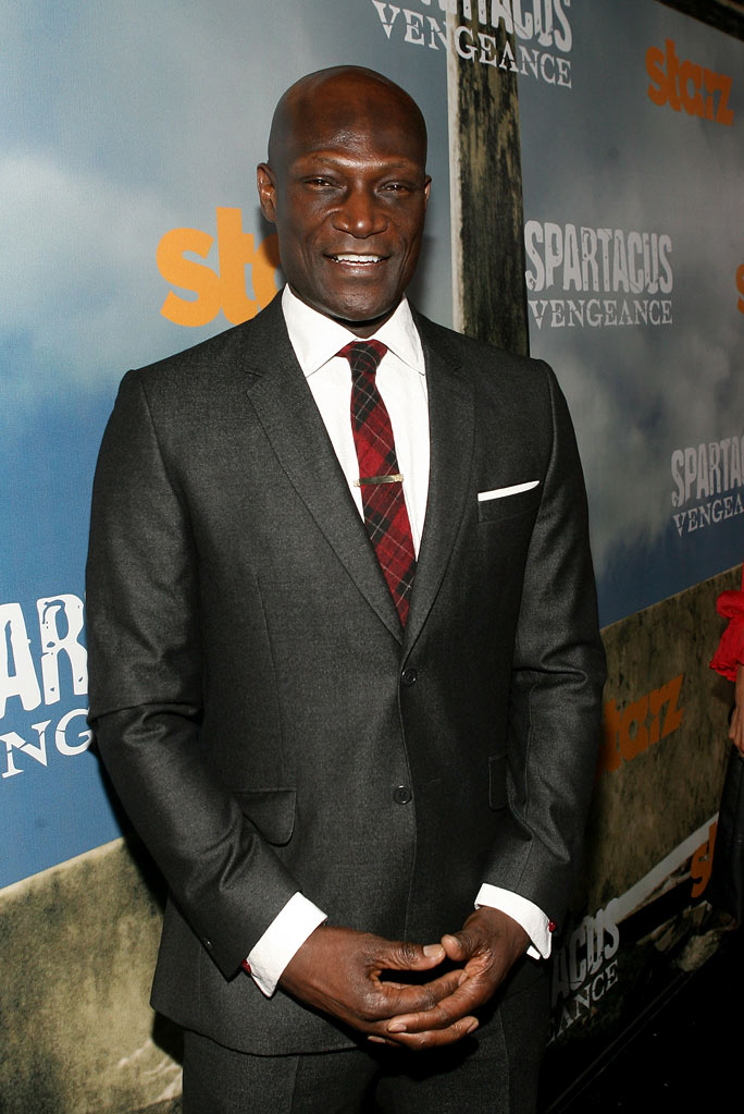 "Peter Mensah attends the Starz Original Series ""Spartacus: Vengeance"" Premiere Event at ArcLight Cinemas Cinerama Dome on January 18, 2012 in Hollywood, California."