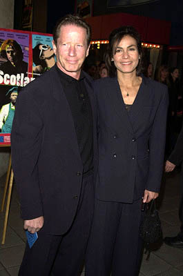 Premiere: Peter Strauss and Rachel Ticotin at the Hollywood premiere for Lot 47's Scotland, PA - 2/4/2002