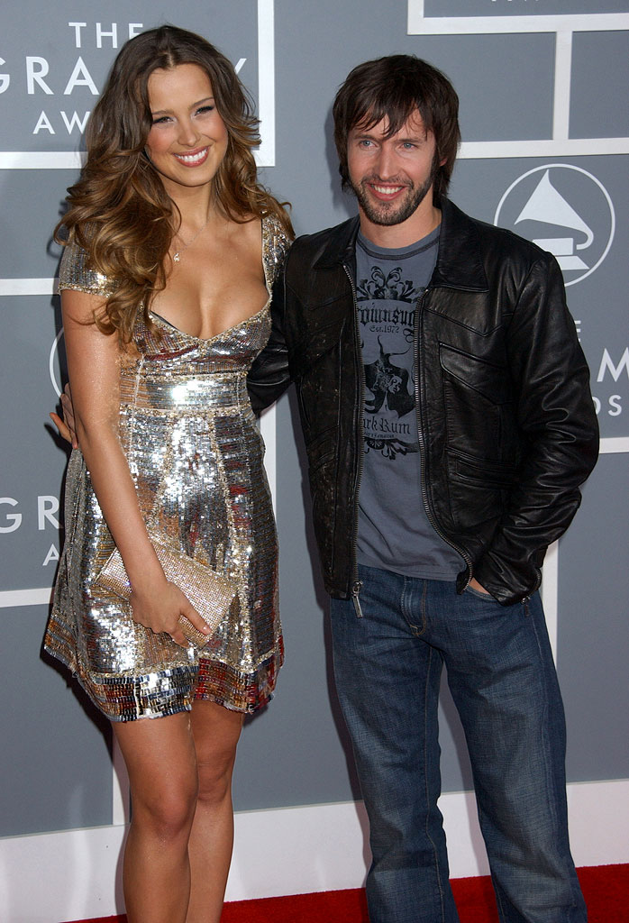 Petra Nemcova and James Blunt at The 49th Annual Grammy Awards.
