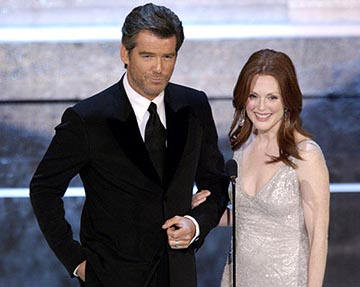 Pierce Brosnan and Julianne Moore 76th Academy Awards - 2/29/2004