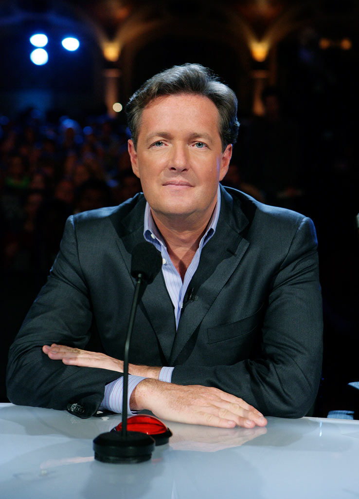 Piers Morgan judges the contestants on America's Got Talent.