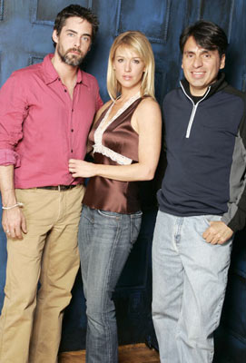 Adam Kaufman, Poppy Montgomery and director David Ocanas Between Portraits - 1/24/2005 Sundance Film Festival