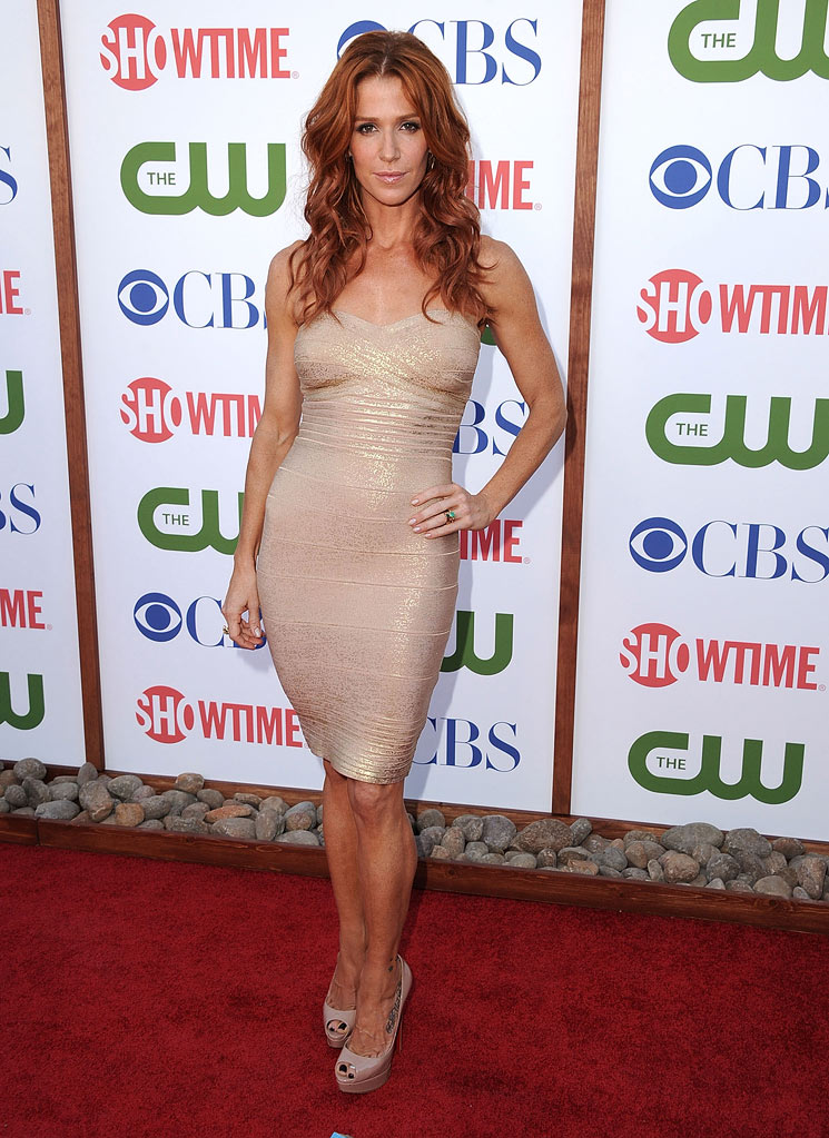 "Poppy Montgomery of ""Unforgettable"" attends the CBS, The CW, and Showtime 2011 Summer TCA Party at The Pagoda on August 3, 2011 in Beverly Hills, California."