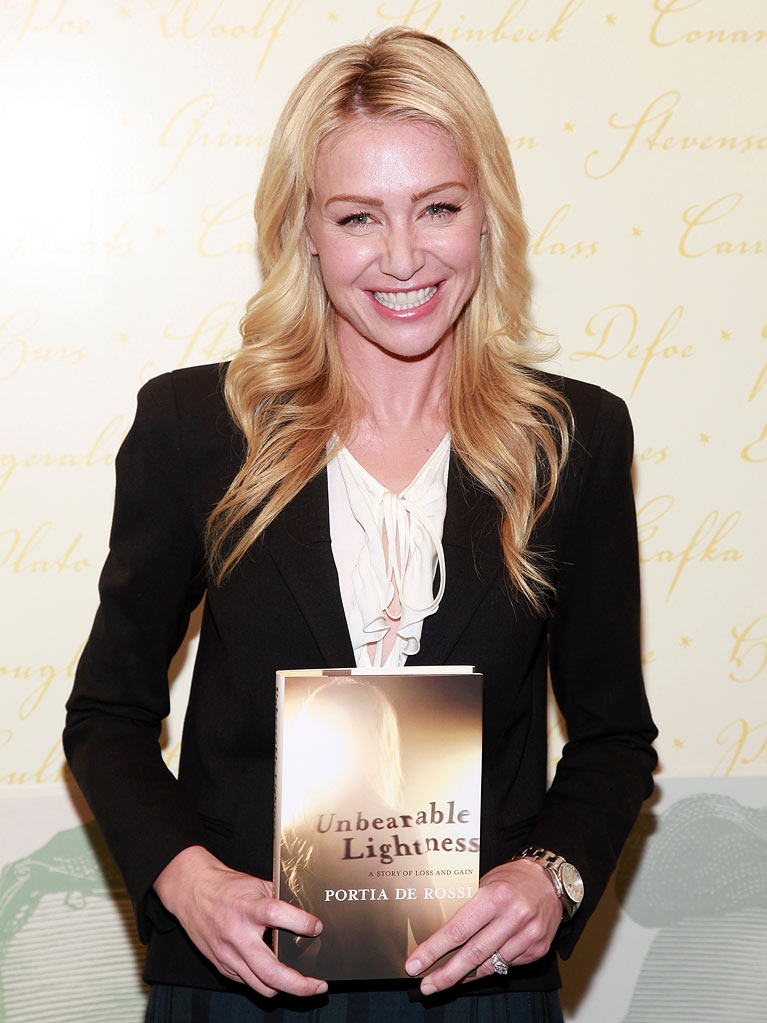 "Portia de Rossi promotes her new book ""Unbearable Lightness"" at Barnes & Noble, Lincoln Triangle on November 5, 2010 in New York City."