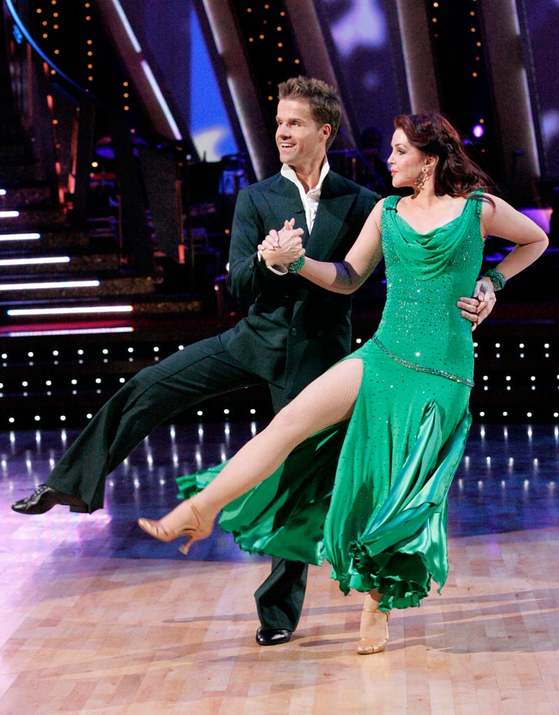 Louis Van Amstel and Priscilla Presley perform a dance on the sixth season of Dancing with the Stars. Priscilla Presley