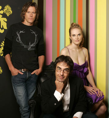 Kevin Bacon, director Atom Egoyan and Rachel Blanchard 2005 Toronto Film Festival - Where the Truth Lies Portraits